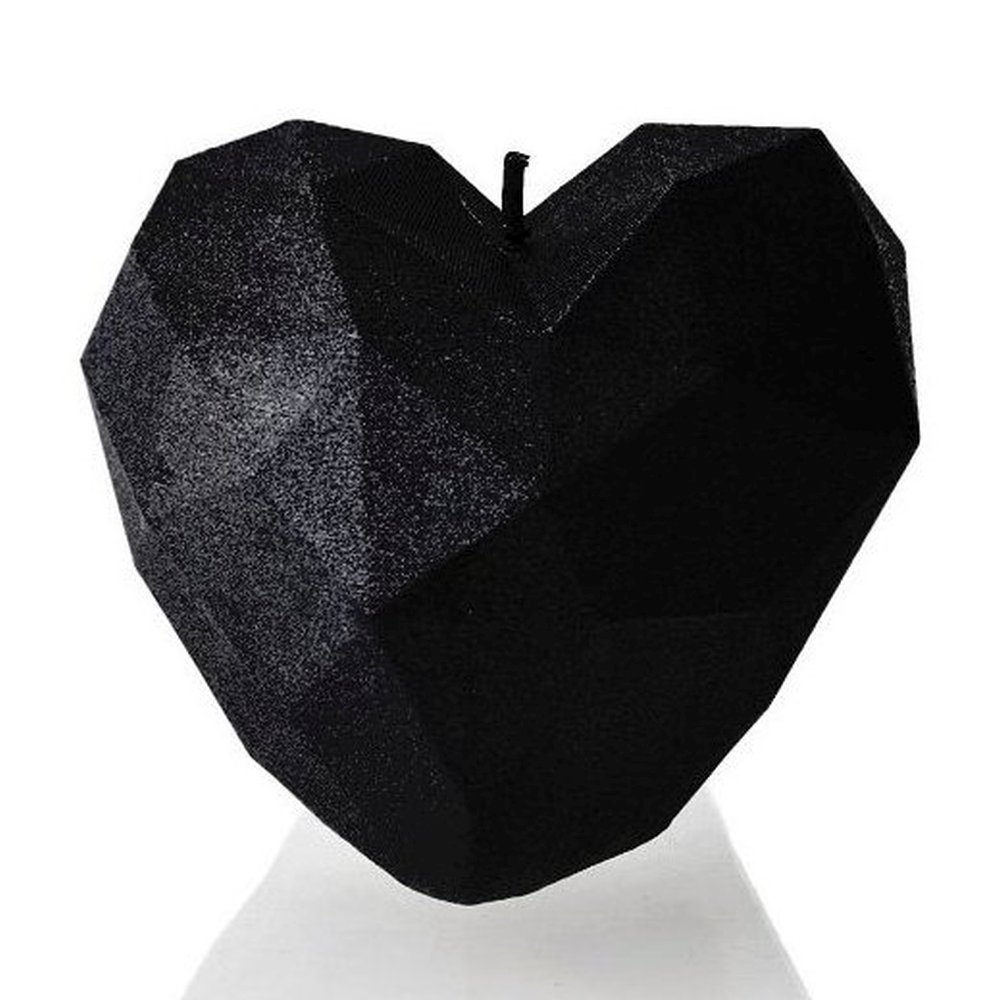 Black High Glossy Candellana Candles Peace Candle